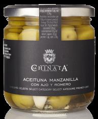 Oliva Manzanilla con aglio e rosmarino La Chinata