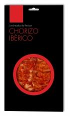 Salsiccia iberica di mangime di campagna Revisan Ibéricos affettata