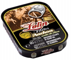 Filetti di acciuga in olio d'oliva serie oro Lolin
