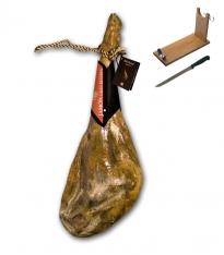 Prosciutto bianco grasso cantina gran riserva Revisan Ibéricos + porta prosciutto + coltello