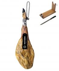 Prosciutto Pata Negra iberico 100% puro di ghianda Altadehesa + porta prosciutto + coltello