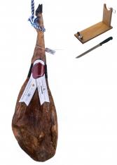 Prosciutto Pata Negra iberico di mangime centenario Sánchez Bermejo + porta prosciutto + coltello