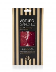 Prosciutto Pata Negra ibérico di ghianda Arturo Sánchez affettato