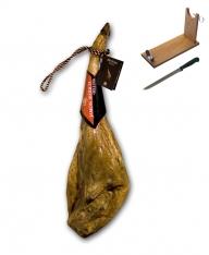 Prosciutto Pata Negra ibérico di ghianda certificato Revisan + porta prosciutto + coltello