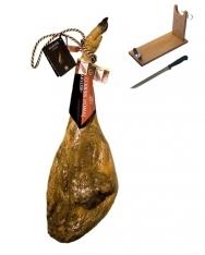 Prosciutto Pata Negra ibérico di ghianda D.O. di Guijuelo Revisan + porta prosciutto + coltello