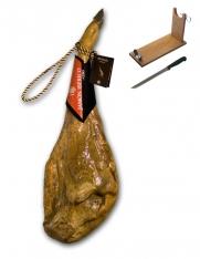 Prosciutto Pata Negra ibérico di mangime certificato Revisan + porta prosciutto + coltello