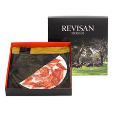 Prosciutto iberico di mangime di campagna Revisan Ibéricos tagliato a mano - scatola premium