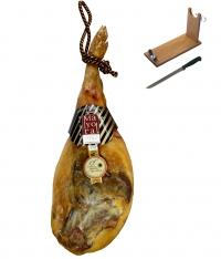 Prosciutto serrano riserva Mayoral intero + porta prosciutto + coltello
