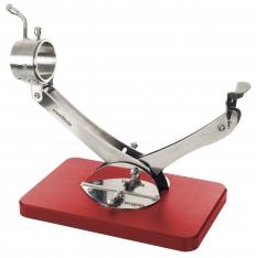 Porta prosciutto articolato girevole 360º Inox rosso Steelblade