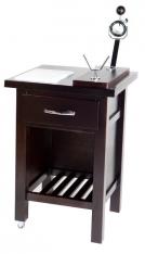 Tavolo con tagliere 600x600mm + porta prosciutto Jabugo Faggio Buarfe