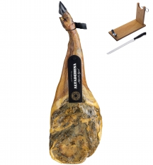 Prosciutto Pata Negra iberico 100% puro (Spalla) di ghianda Altadehesa + porta prosciutto + coltello