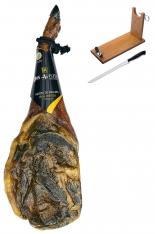 Prosciutto Pata Negra ibérico (Spalla) di ghianda Don Agustín Qualità Superiore + porta prosciutto + coltello