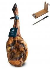 Prosciutto Pata Negra 100% ibérico (Spalla) di ghianda Sánchez Romero Carvajal + porta prosciutto + coltello