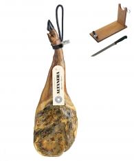 Prosciutto Pata Negra ibérico (Spalla) di mangime Altadehesa + porta prosciutto + coltello