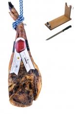 Prosciutto Pata Negra iberico (Spalla) di mangime centenario Sánchez Bermejo + porta prosciutto + coltello