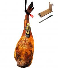 Prosciutto Pata Negra ibérico (Spalla) di ghianda riserva Arturo Sánchez + porta prosciutto + coltello