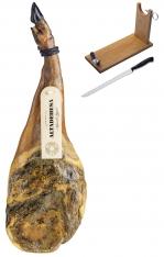 Prosciutto Pata Negra ibérico (Spalla) di mangime di campagna Altadehesa + porta prosciutto + coltello