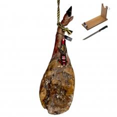 Prosciutto Pata Negra ibérico (Spalla) di mangime di campagna Arturo Sánchez + porta prosciutto + coltello