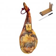 Prosciutto Serrano (Spalla) Naturale D.O. Teruel Jamones Pastor + porta prosciutto + coltello