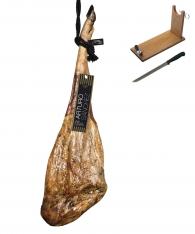 Prosciutto Pata Negra 100% ibérico puro di ghianda gran riserva Arturo Sánchez + porta prosciutto + coltello