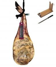 Prosciutto Pata Negra ibérico (Spalla) di mangime Arturo Sánchez + porta prosciutto + coltello