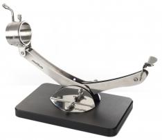 Porta prosciutto articolato girevole 360º Inox nero Steelblade